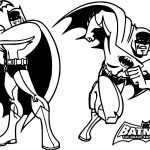 Batman Classic Style Cartoon Coloring Page