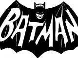 Batman Dark Scream Night Logo Coloring Page