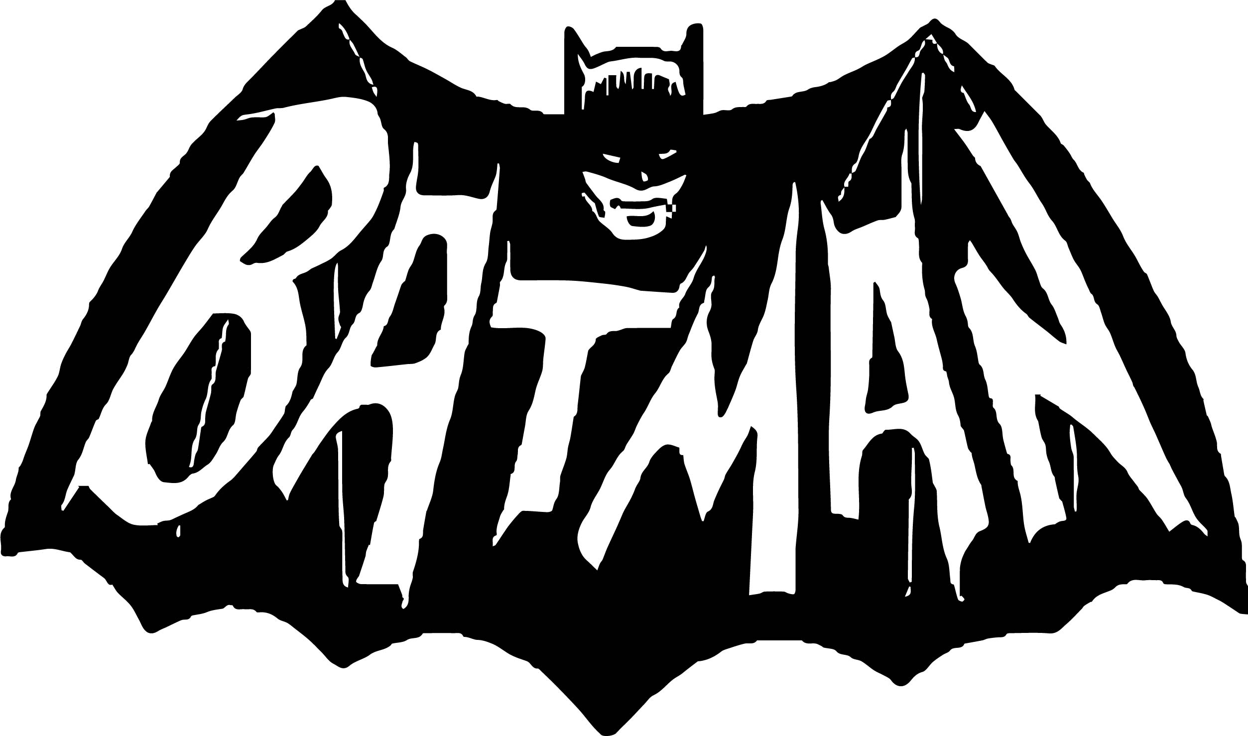 Batman Dark Scream Night Logo Coloring Page