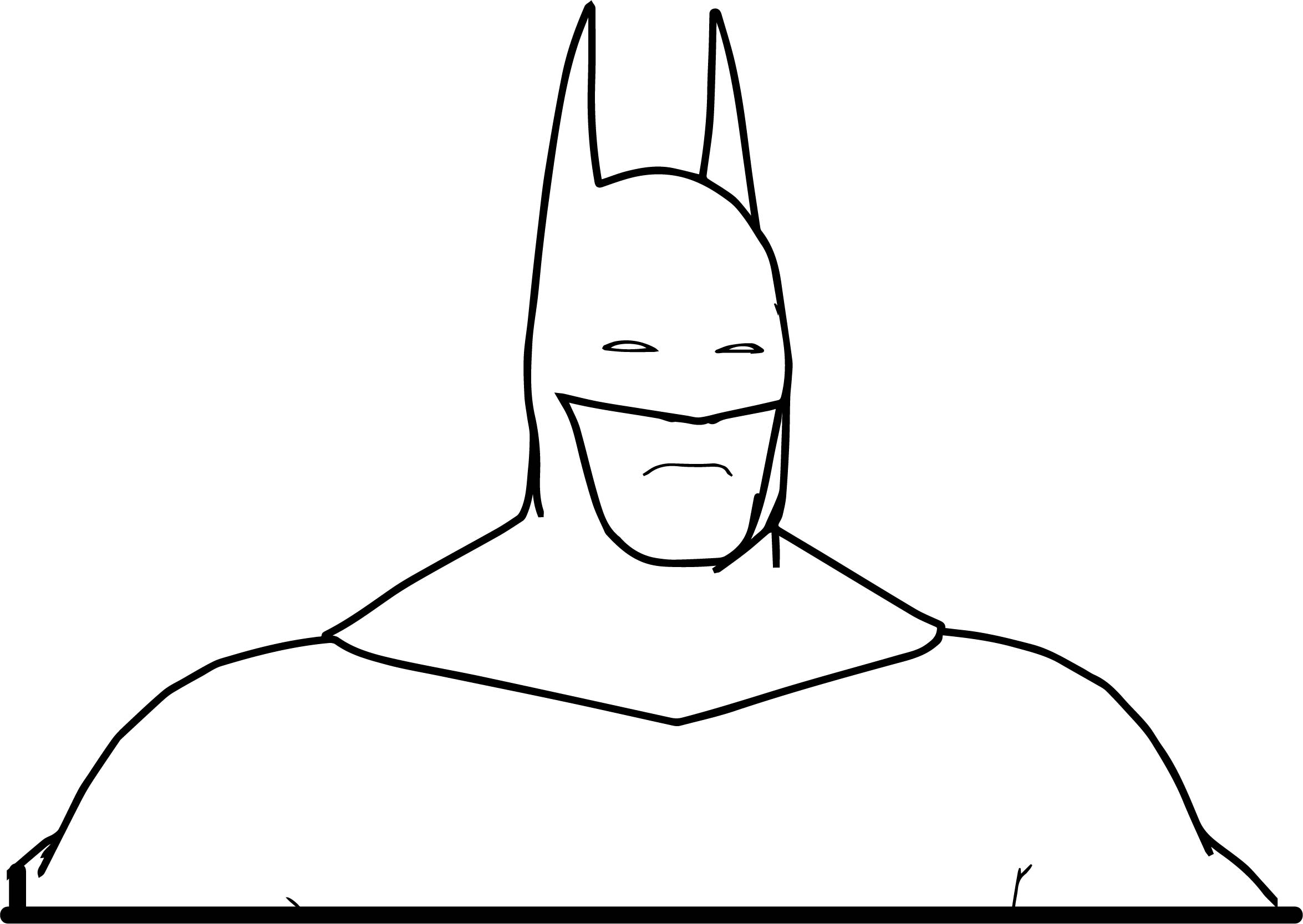 Batman Up Body Coloring Page Wecoloringpage