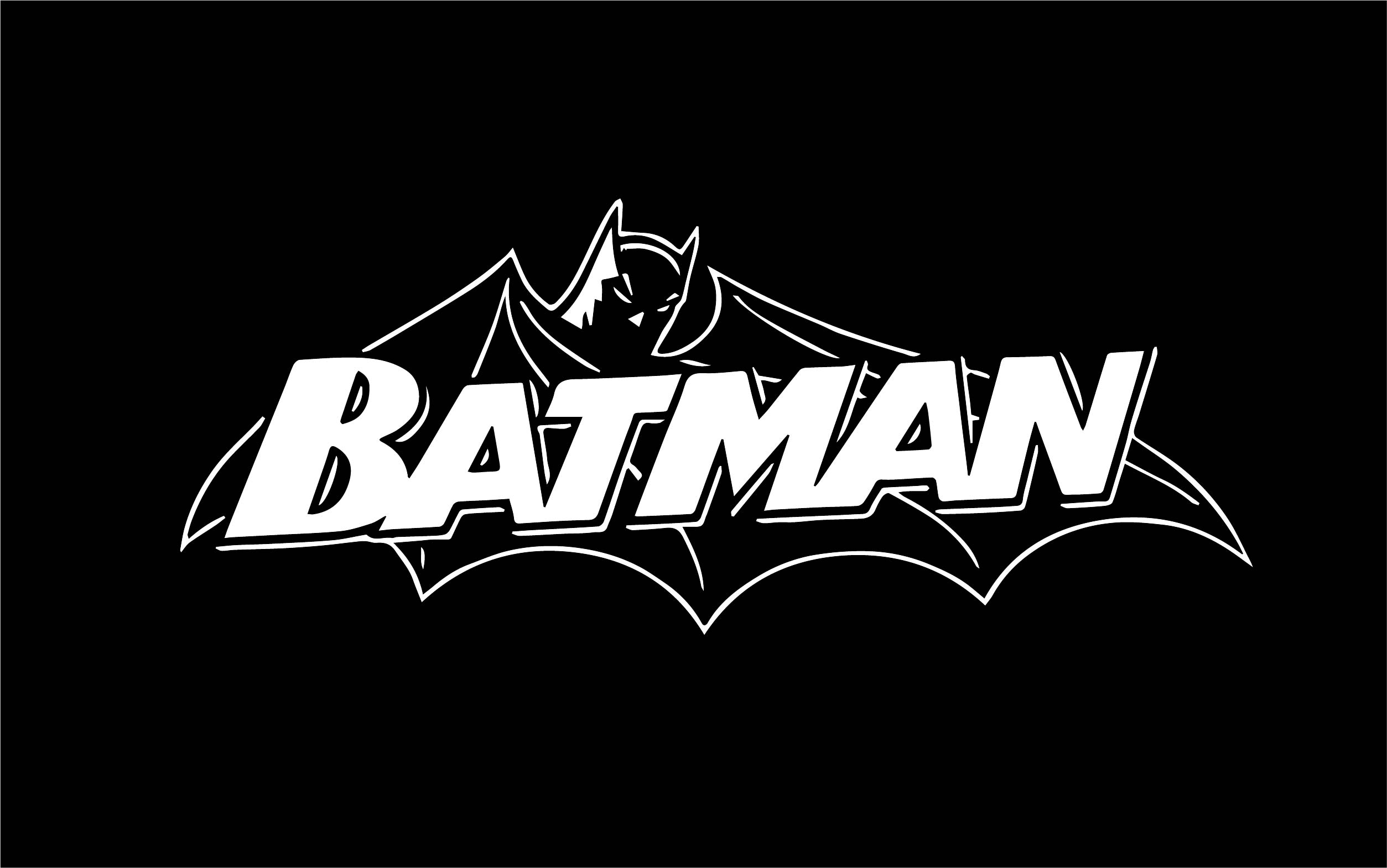Black White Batman Text Cartoon Wallpapers Coloring Page