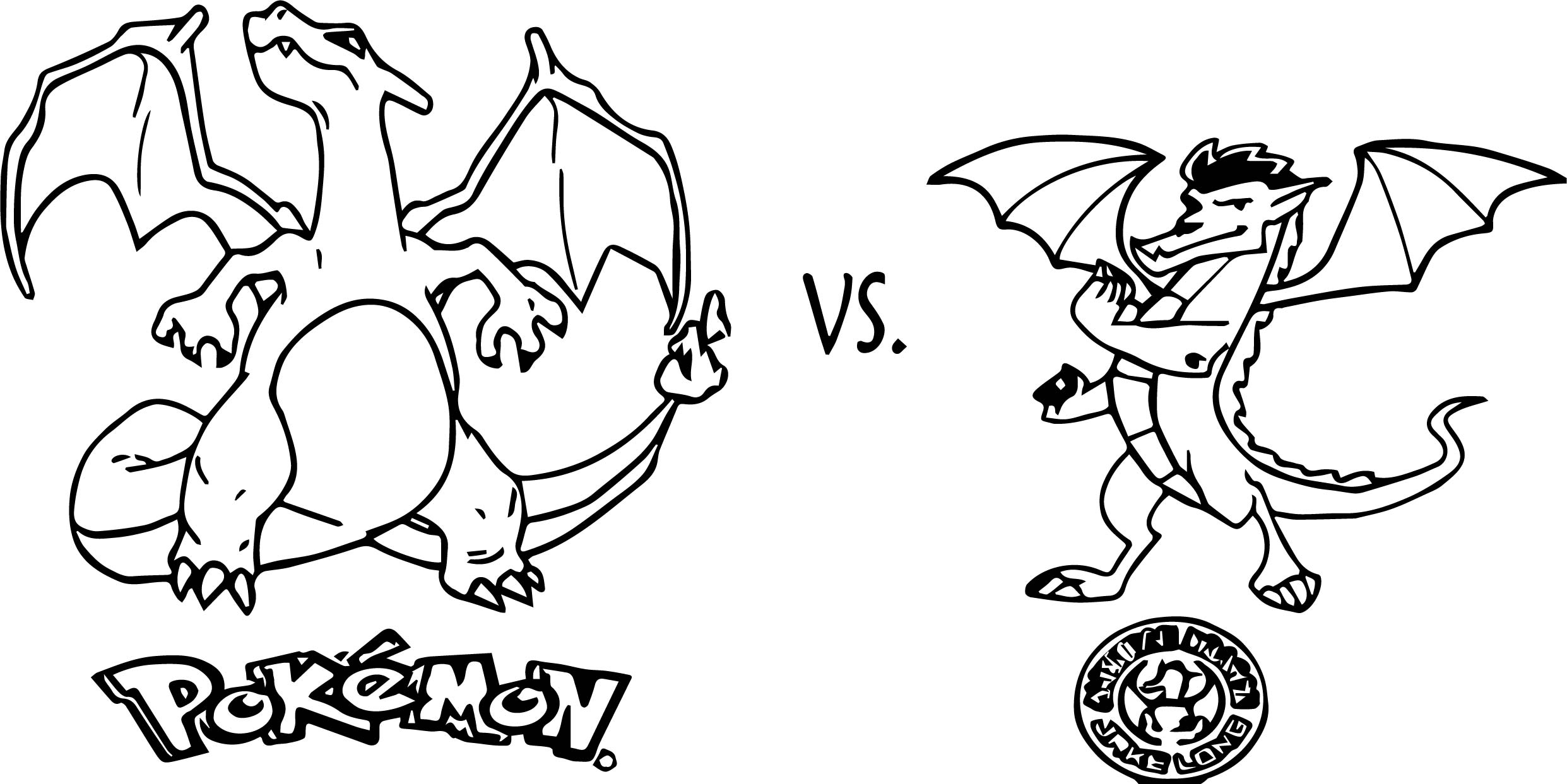 charizard vs american dragon jake long coloring page wecoloringpage