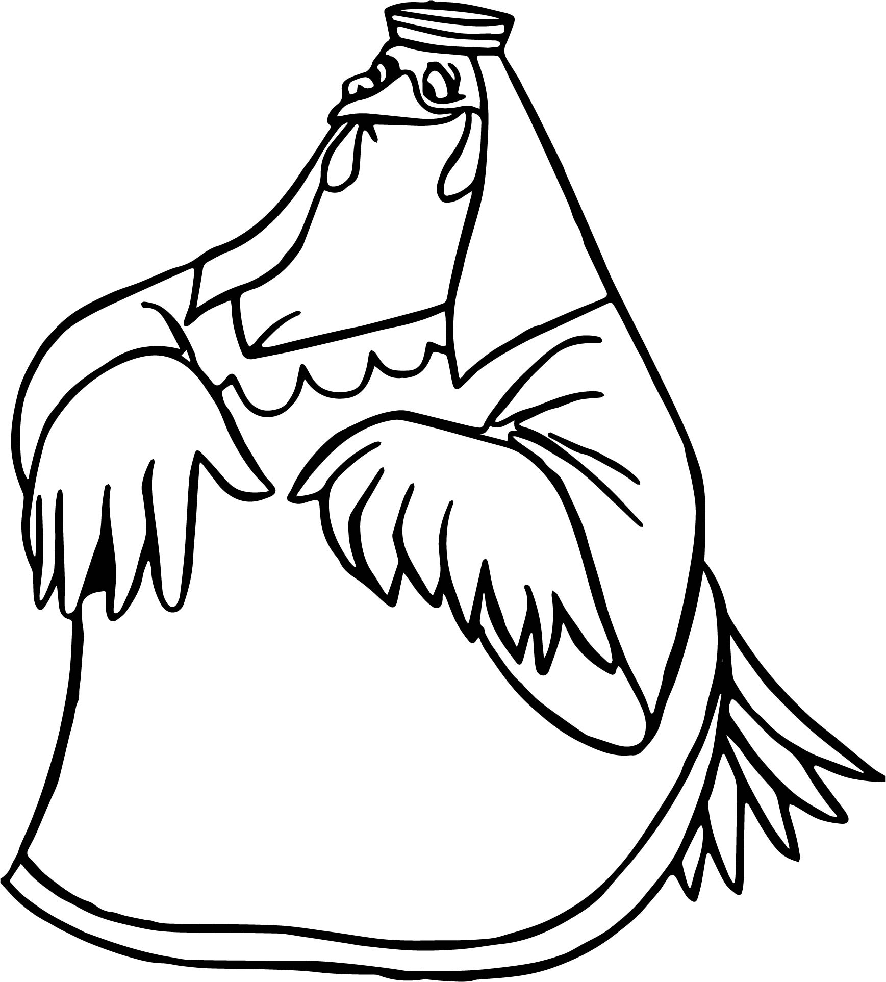 Clucky Coloring Page