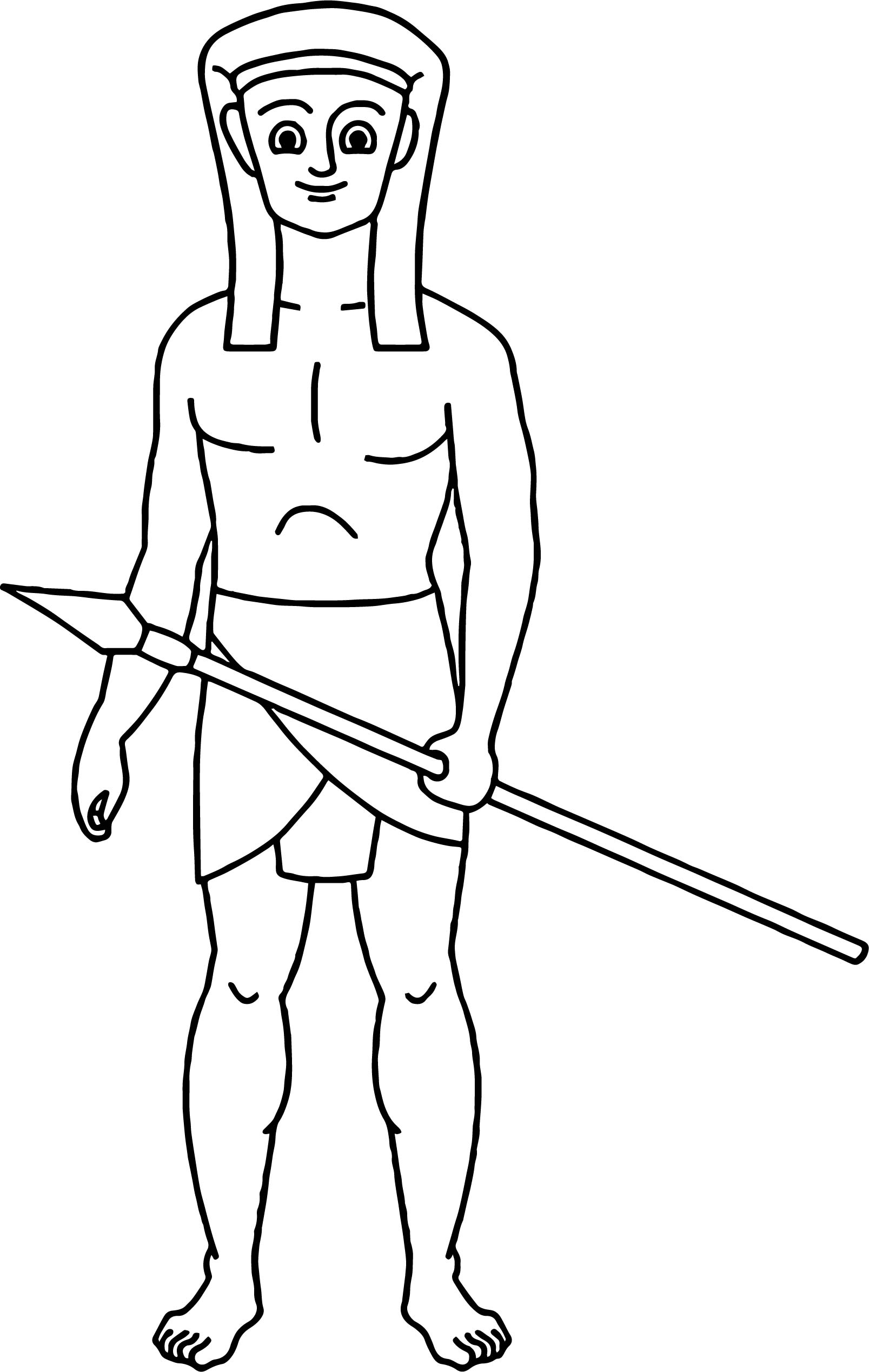 Costume Hunter Ancient Egypt Coloring Page
