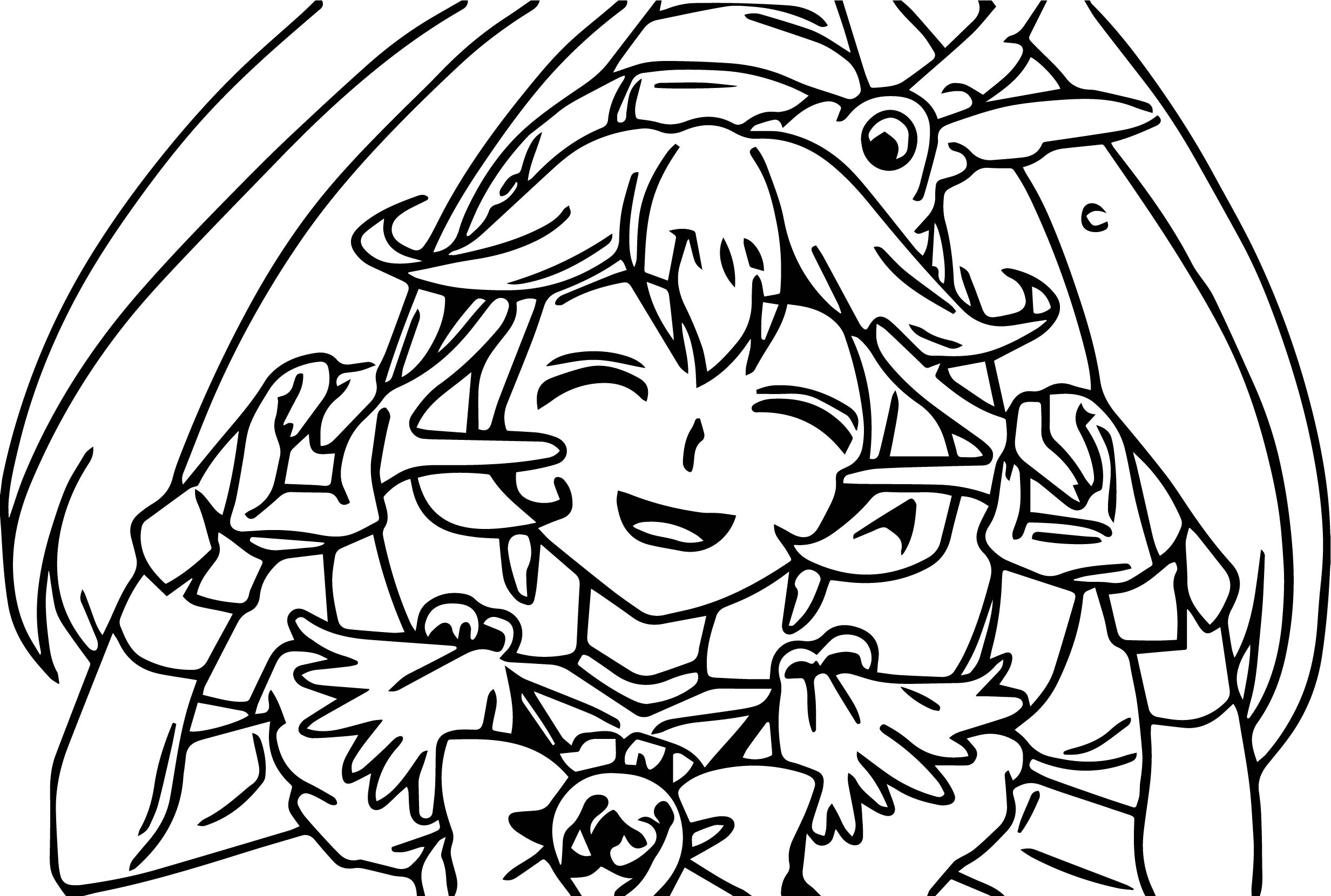 Cute Glitter Force Coloring Page