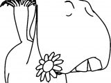 Cute Horse Flower In The Flower Mouth Coloring Page
