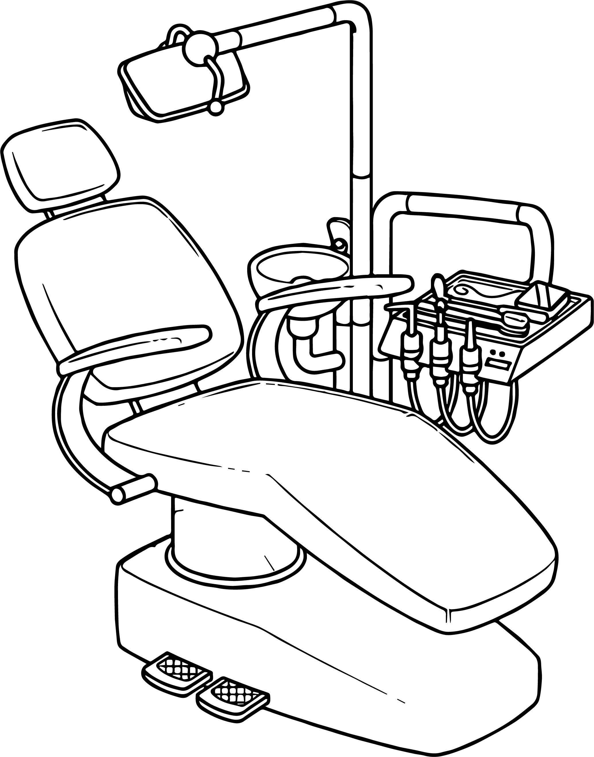 Dental Armchair Coloring Page