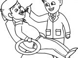 Dental Doctor People Health Coloring Page