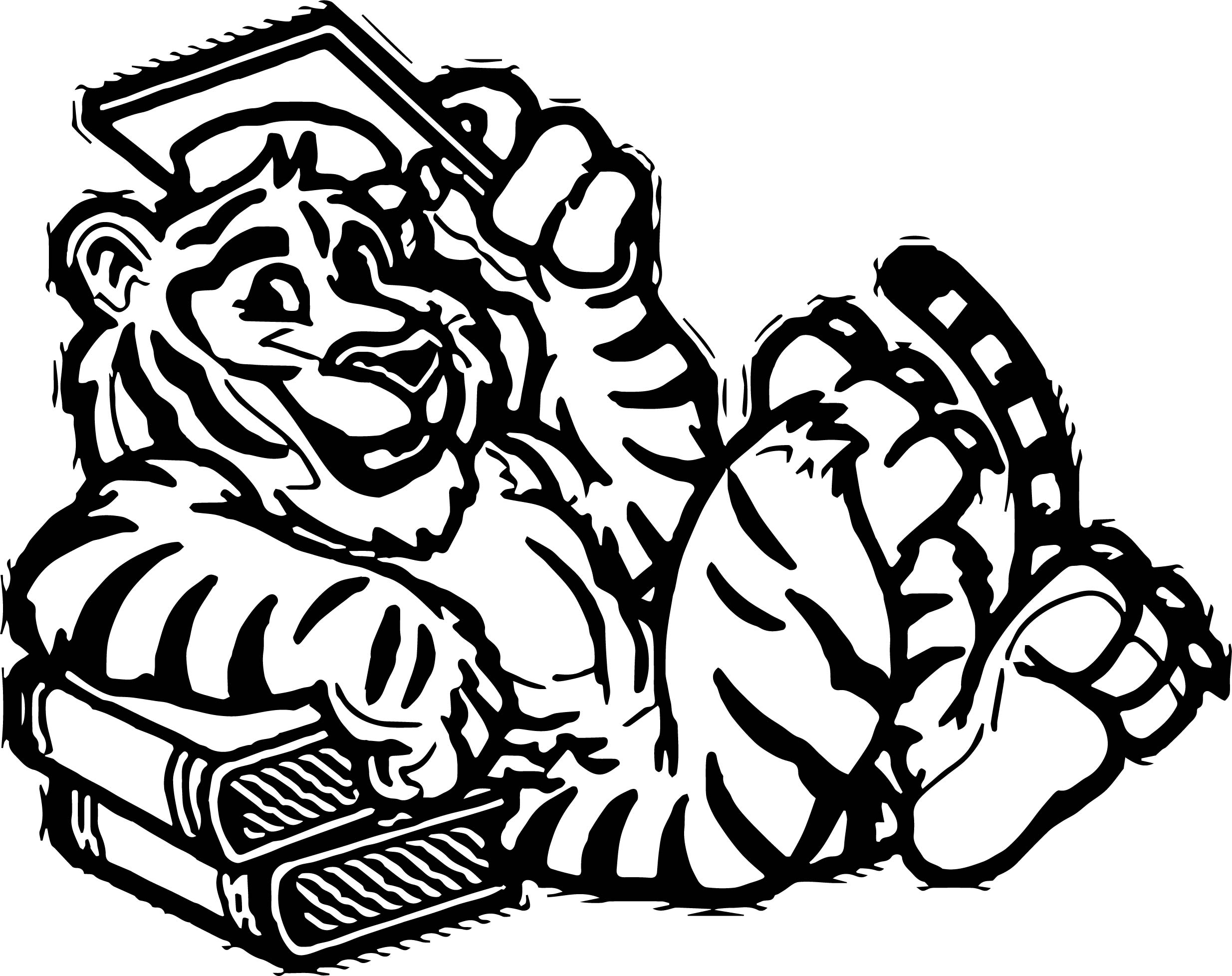 Education Tiger Coloring Page