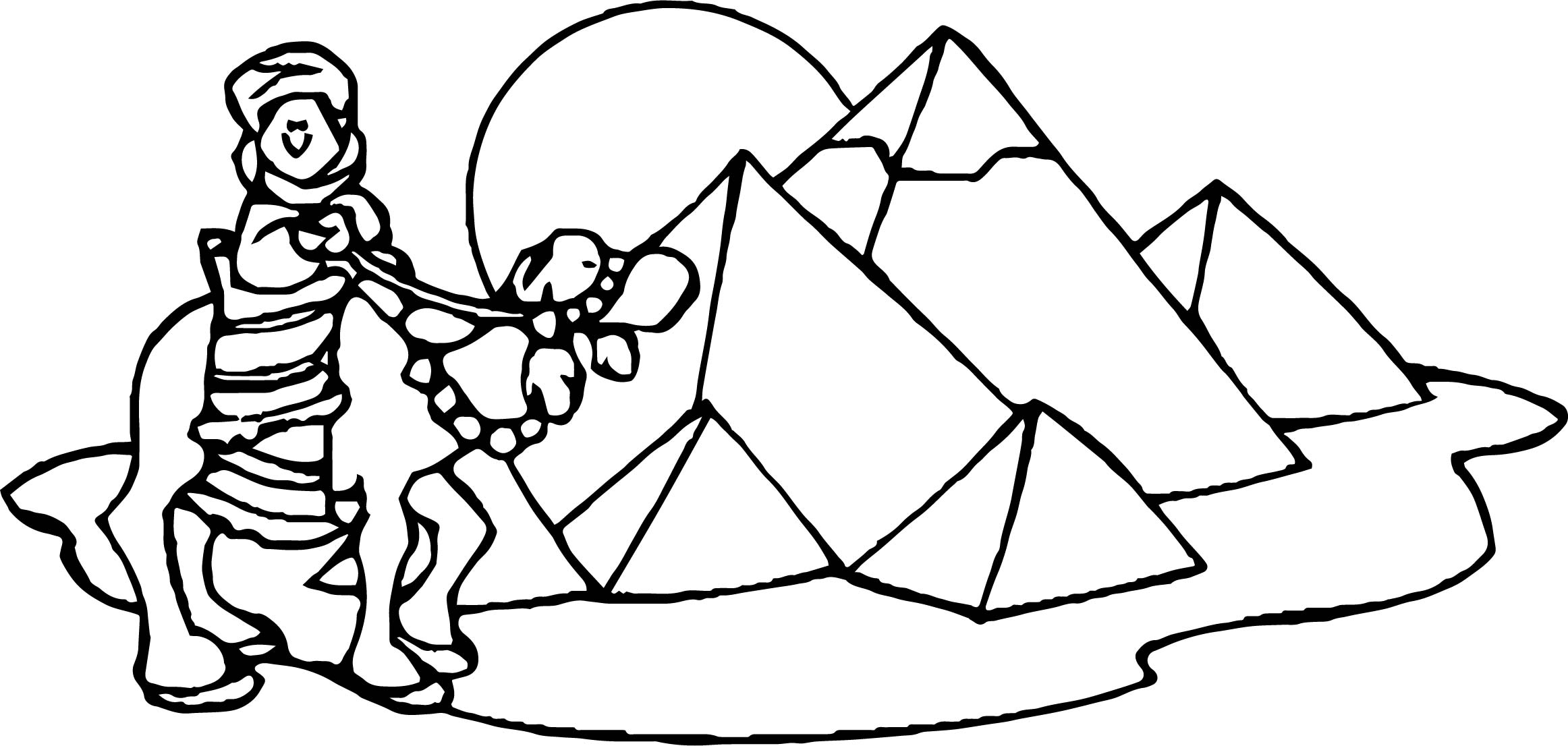 Egypt Desert Coloring Page