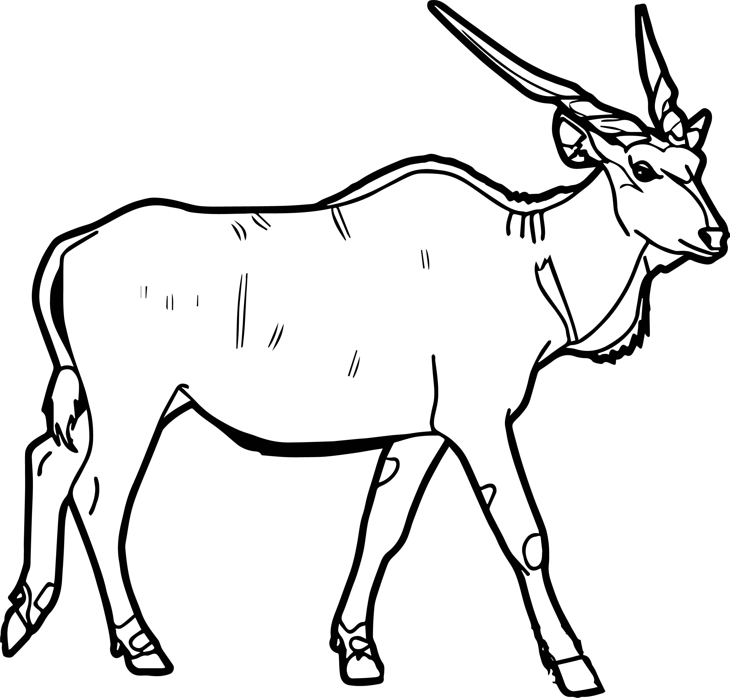 Eland Coloring Page