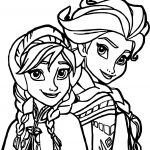 Elsa Anna Coloring Page