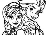 Elsa Anna Coloring Page