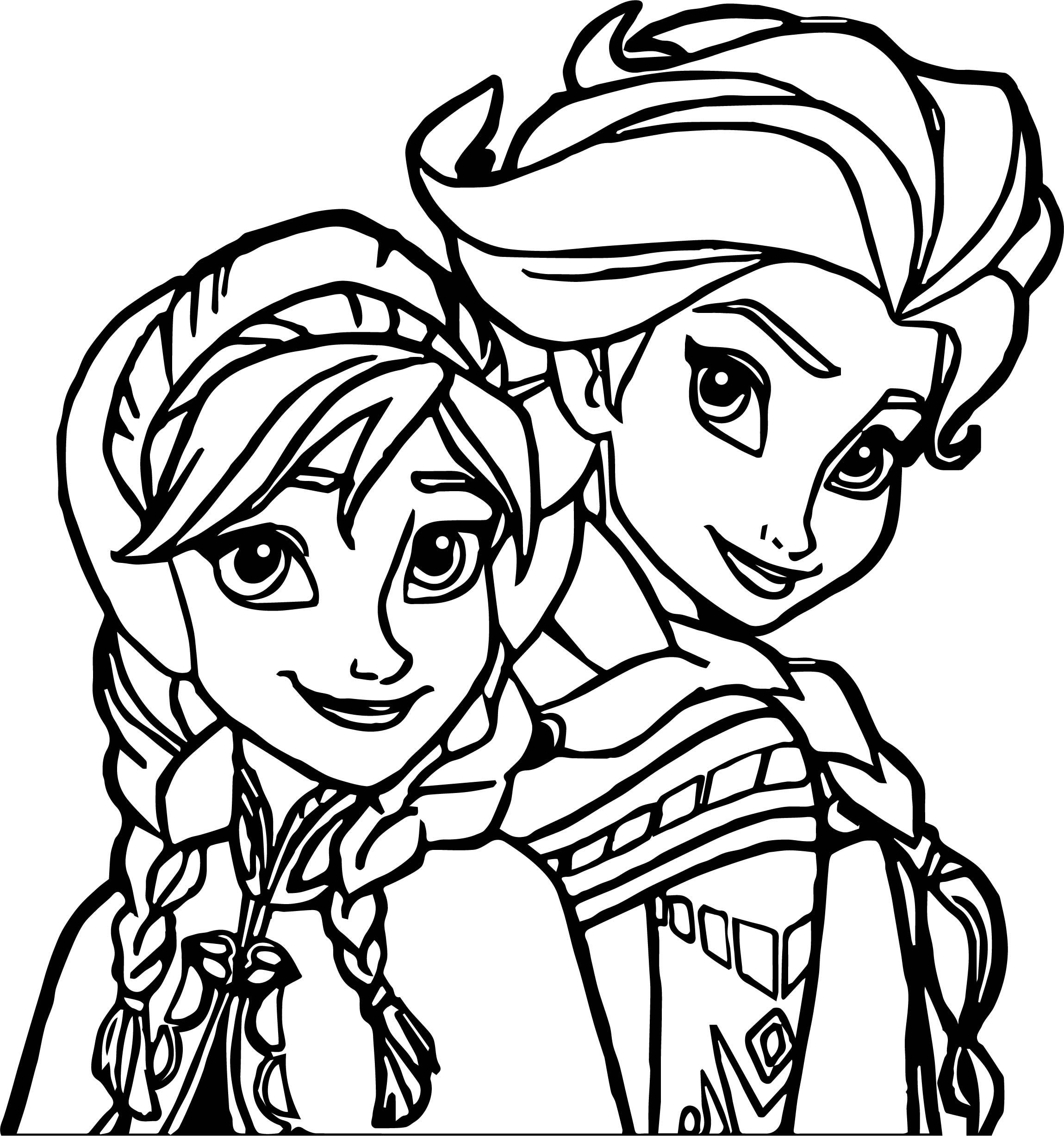 Elsa anna coloring page for Elsa frozen coloring pages