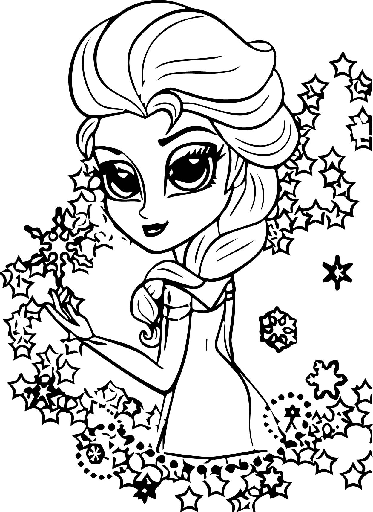 Chibi Frozen Characters Coloring Pages Teen Titans Chibi Coloring ...
