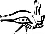 Eye Of Ra Symbol Coloring Page