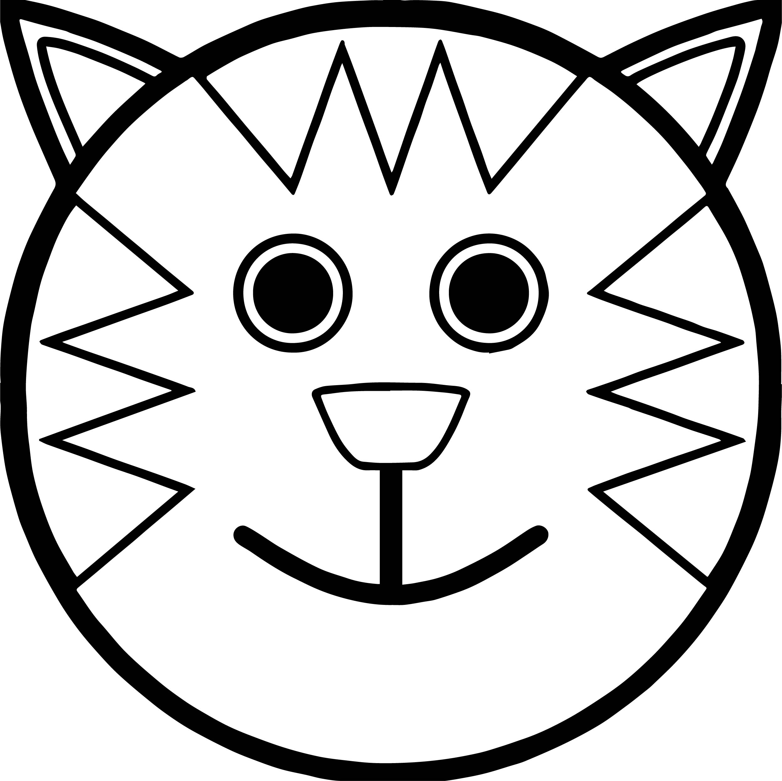 Face Cat Tiger Coloring Page | Wecoloringpage.com