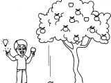 Fall Apple Tree Coloring Page