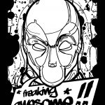 Freaking Awesome Deadpool Coloring Page
