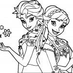 Frozen Fever And Anna Snow Coloring Page