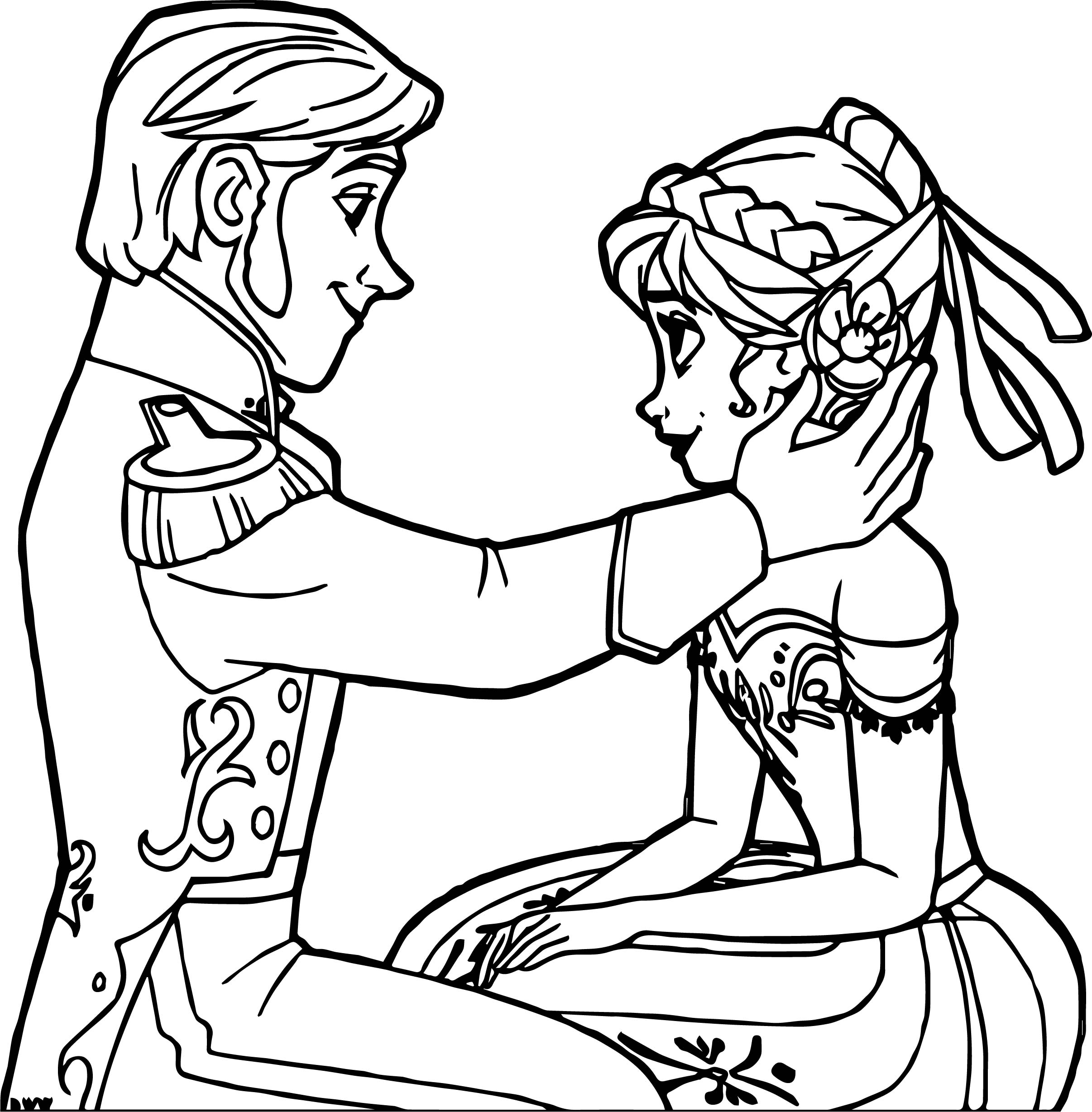 Frozen Hans Anna Coloring Page | Wecoloringpage