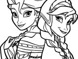 Frozen Sisters Coloring Page