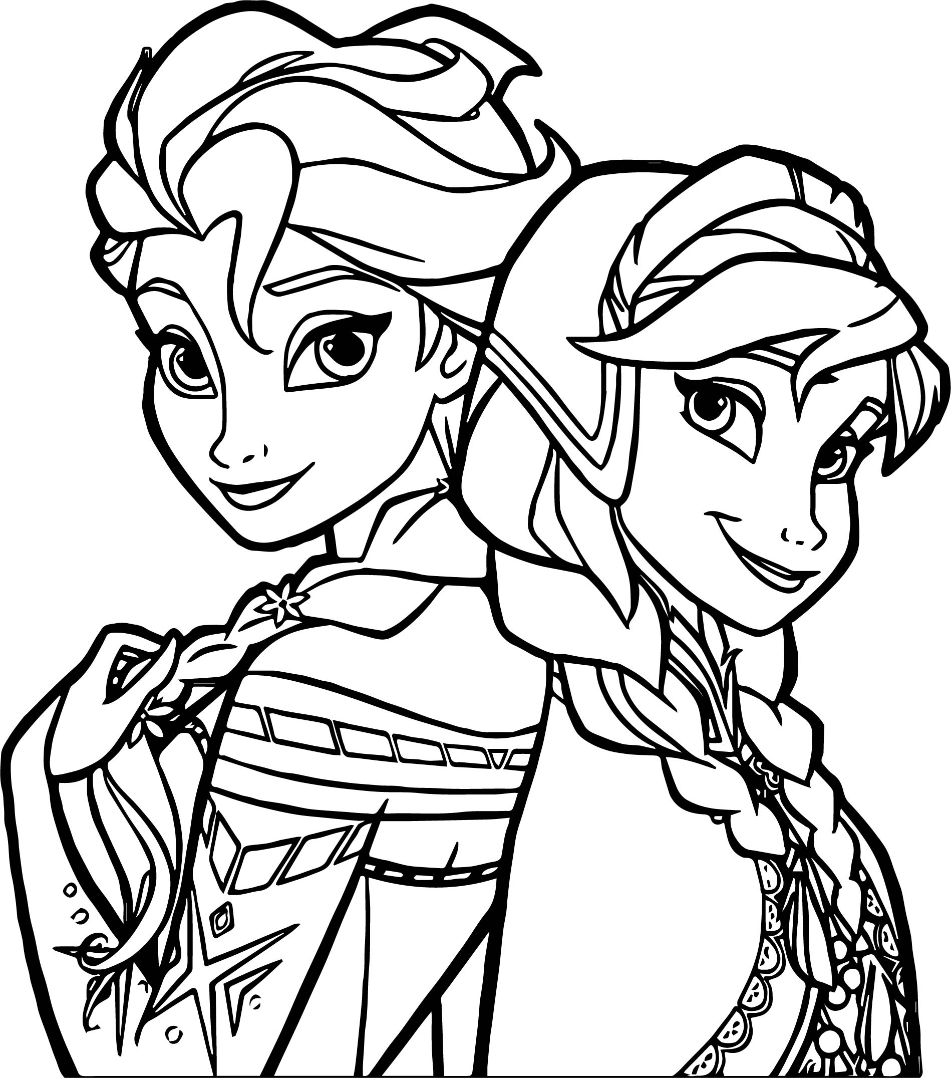 Frozen Sisters Coloring Page Wecoloringpage Printable Coloring Pages For Frozen Free