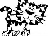 Funny Small Kids Free Tiger Coloring Page