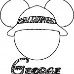 George Draw Mickey Mouse Face Coloring Page