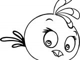 Girl Stella Angry Birds Coloring Page