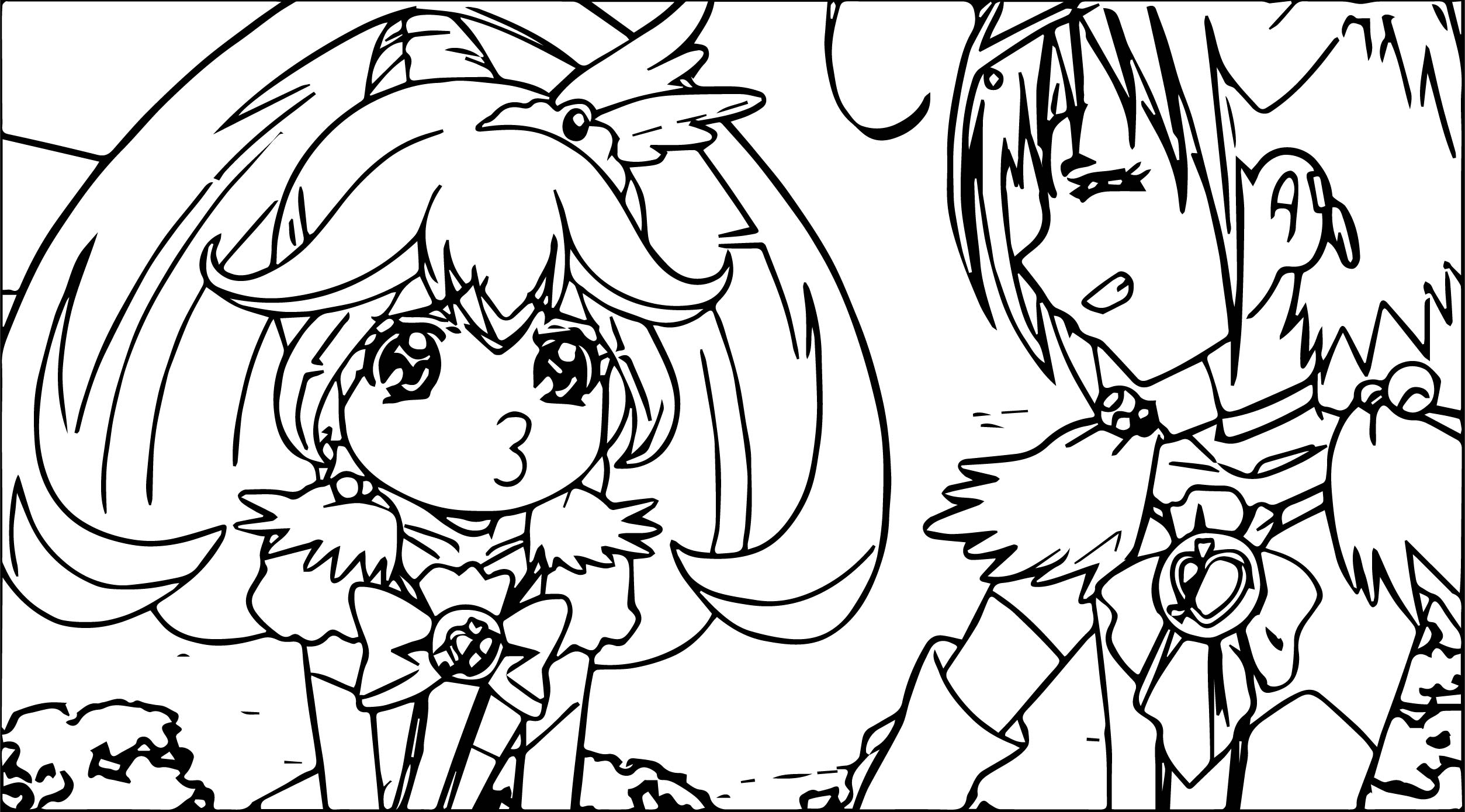 Glitter Force Comic Coloring Page