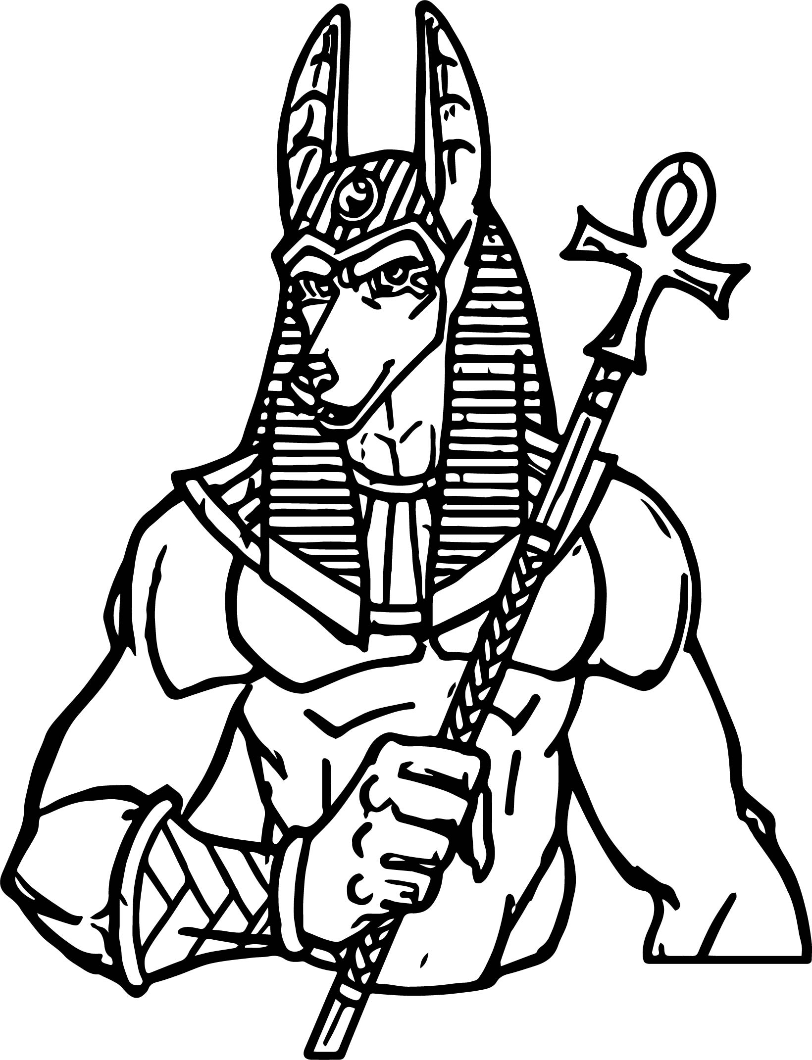 Gods Of Ancient Egypt Anubis Coloring Page