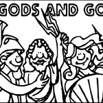 Gods Roman Coloring Page