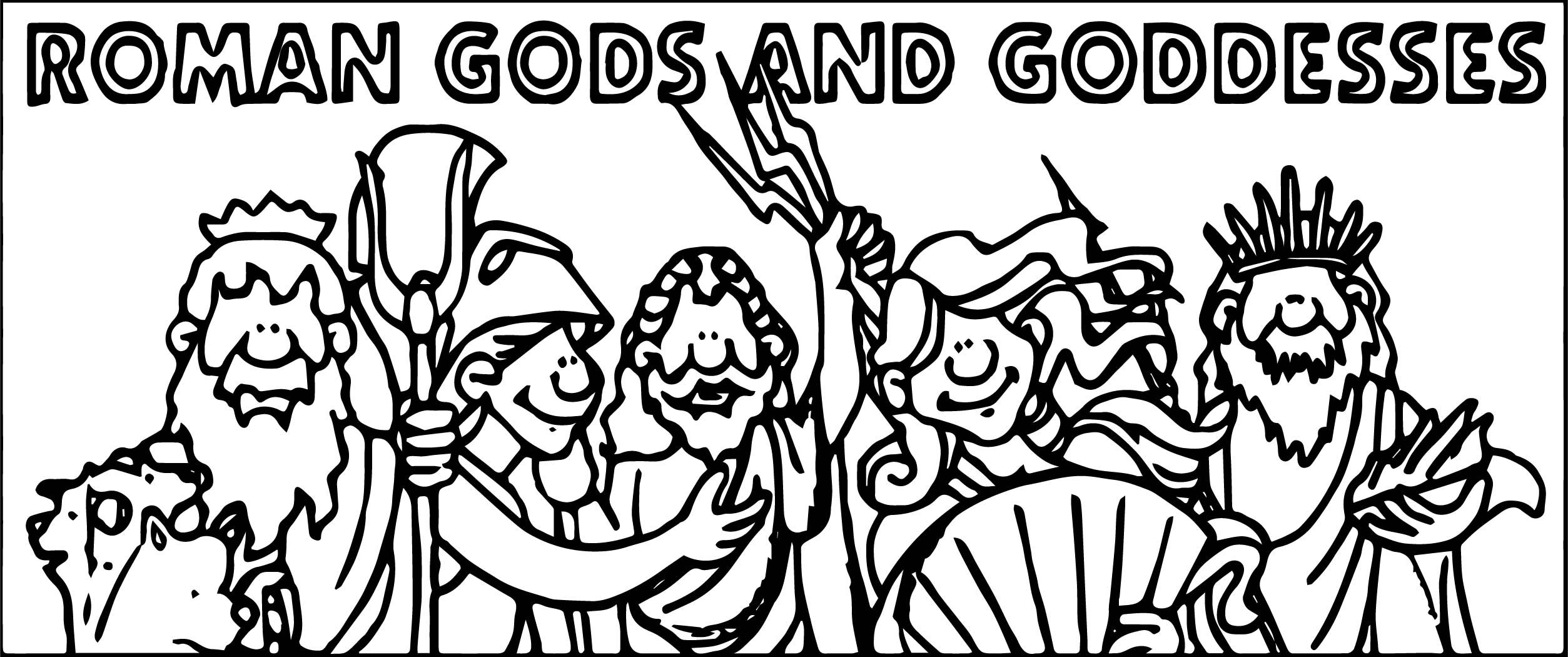 Gods Roman Coloring Page