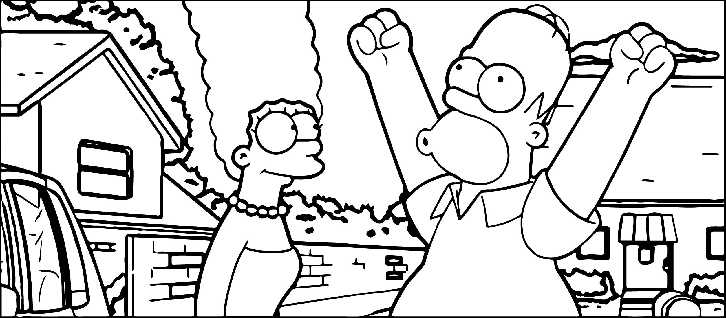 Gty Simpsons Coloring Page