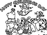 Happy Childrens Day Animal Kingdom Graphic Free Coloring Page