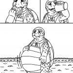 Hungry Tortoise Turtle Coloring Page