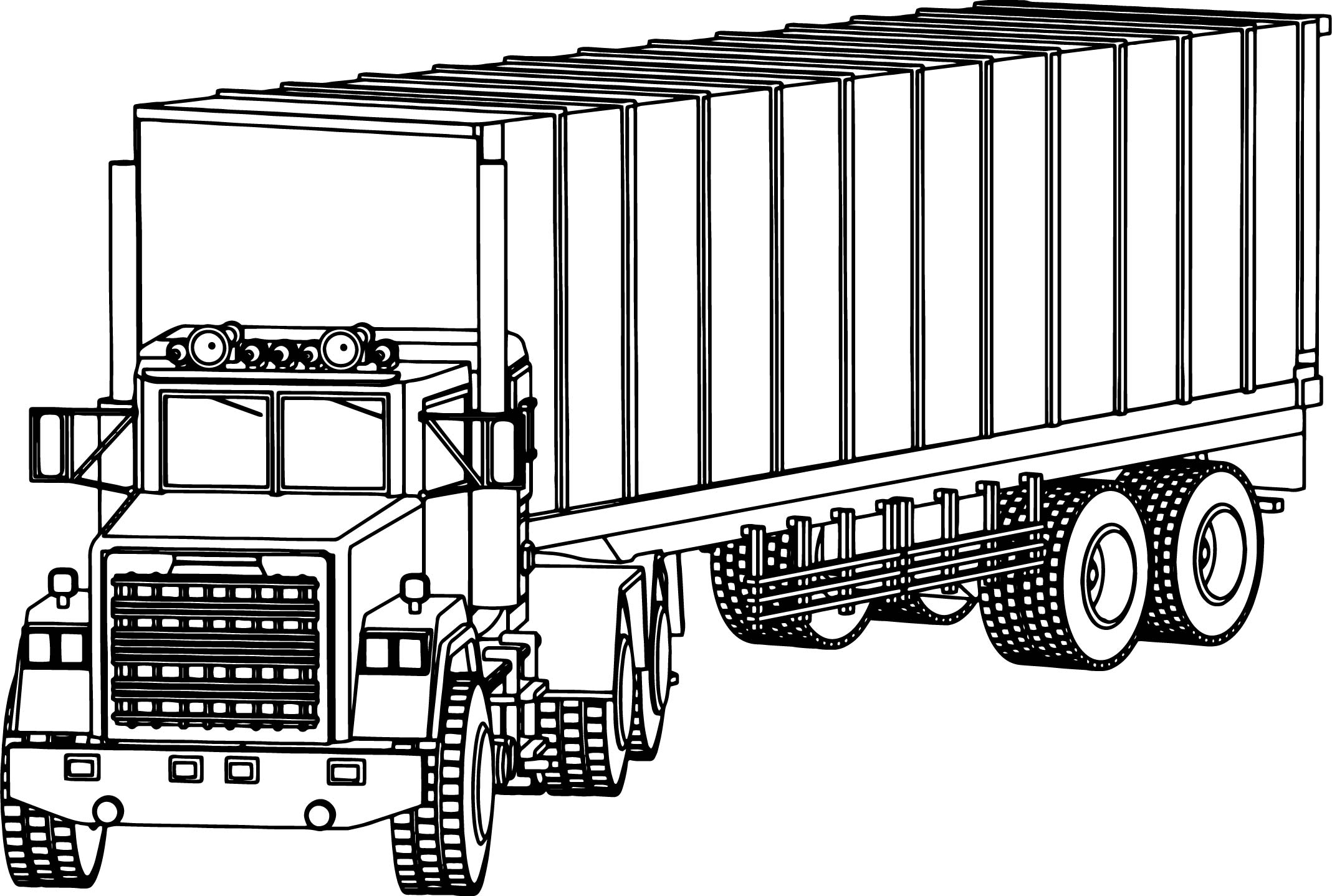Industrial Truck Big Truck Coloring