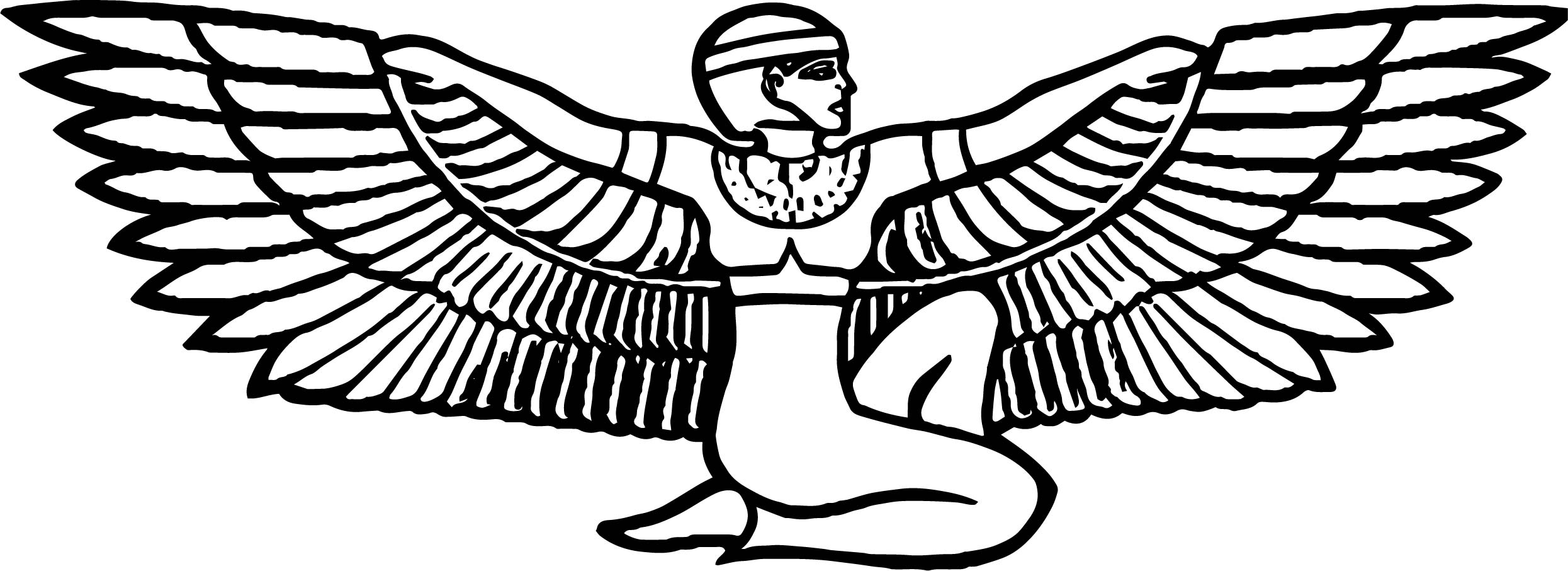 Isis Egyptian Goddess Free Coloring Page