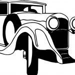 Just Vintage Antique Car Coloring Page