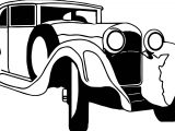 Just Vintage Antique Car Coloring Page