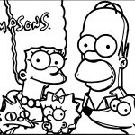 Key Art The Simpsons Coloring Pages