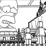 Lego The Simpsons Coloring Page