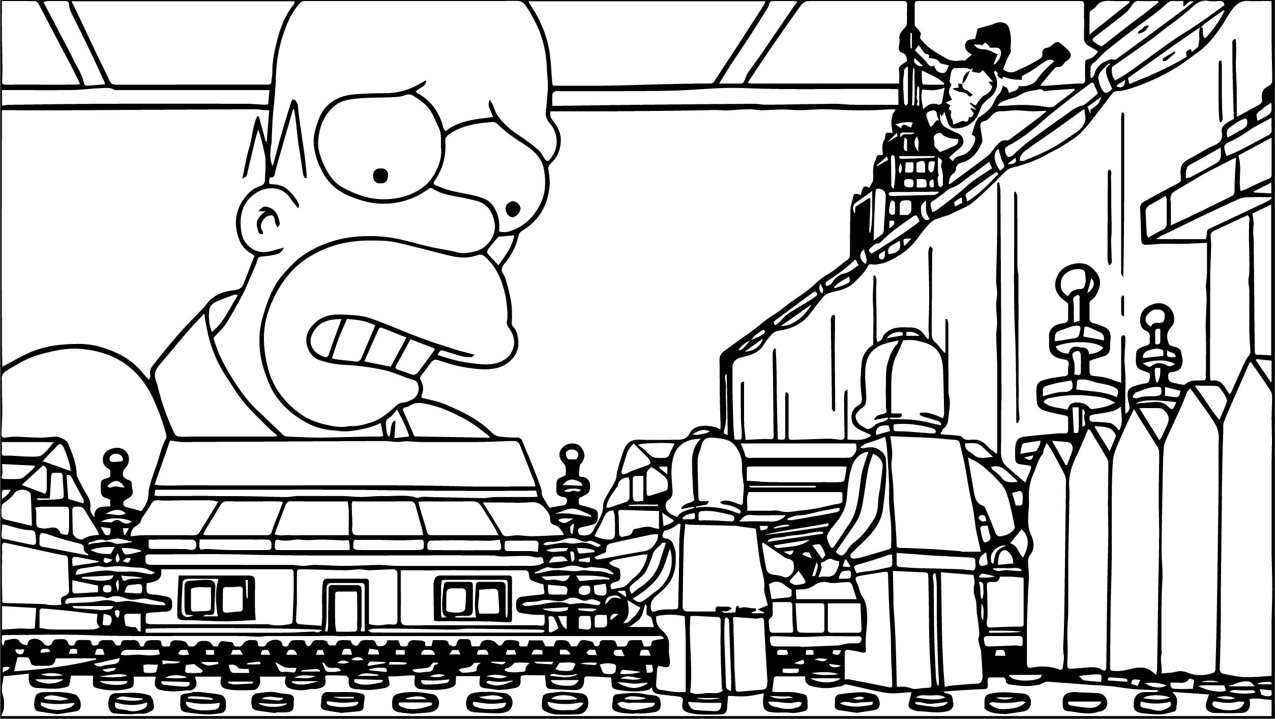 Lego The Simpsons Coloring Page | Wecoloringpage
