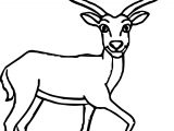 Looking Antelope Coloring Page
