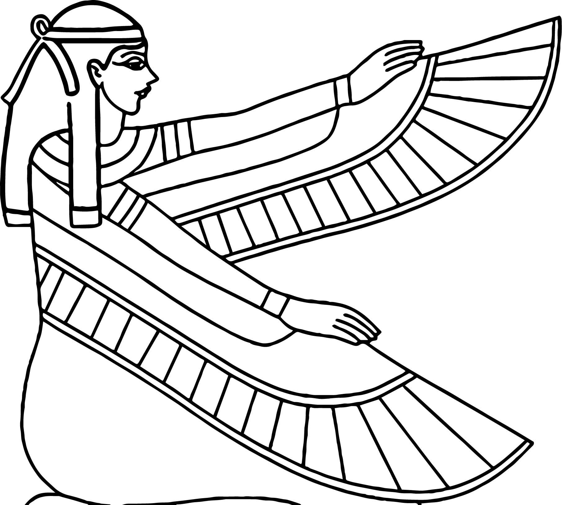 maat egyptian goddess coloring page wecoloringpage
