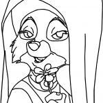 Maid Marian Fox Robin Hood Character Coloring Page