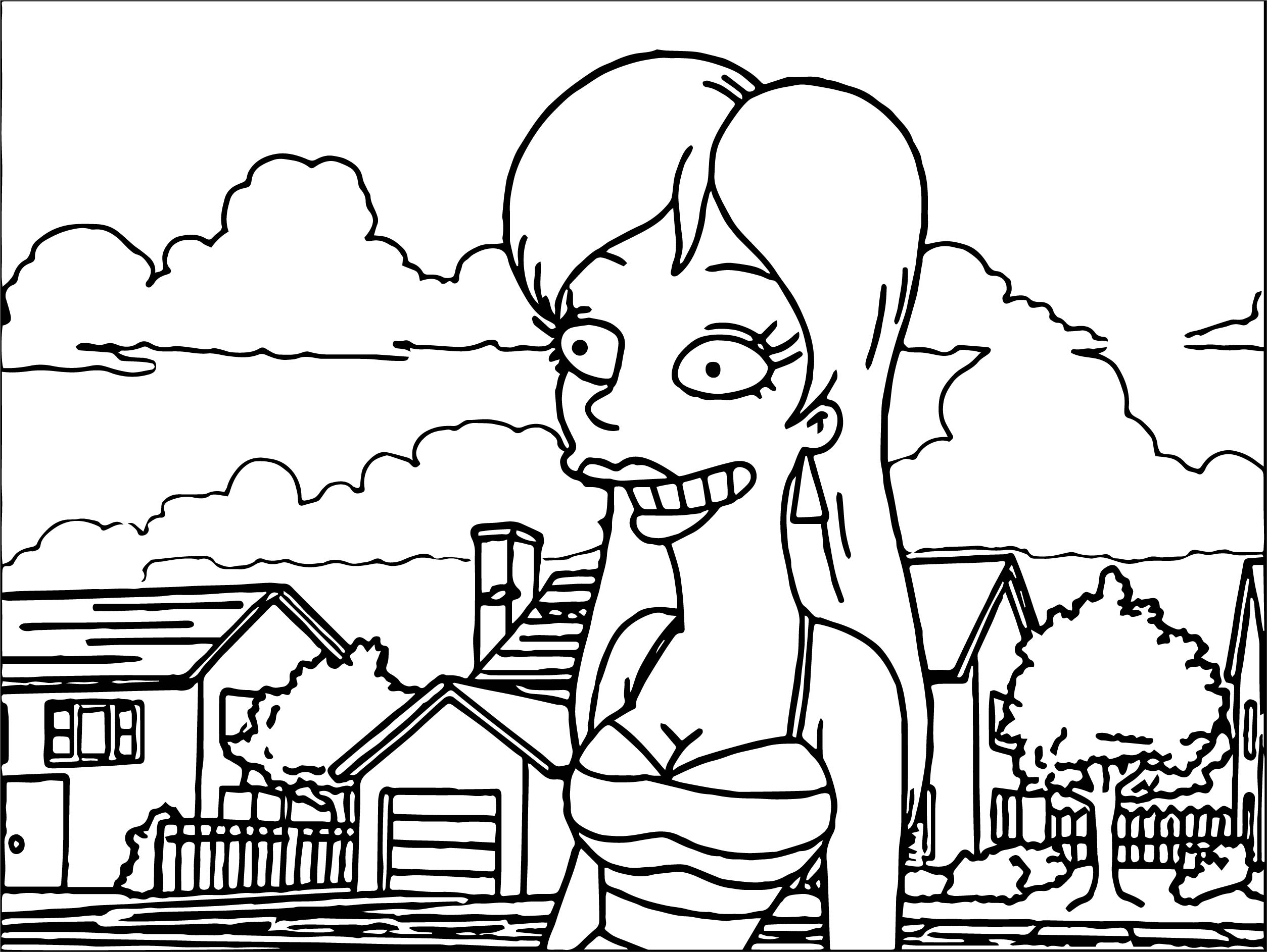 Mandy Moore Simpsons Coloring Page