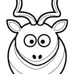 Martouf Cartoon Kudu Coloring Page