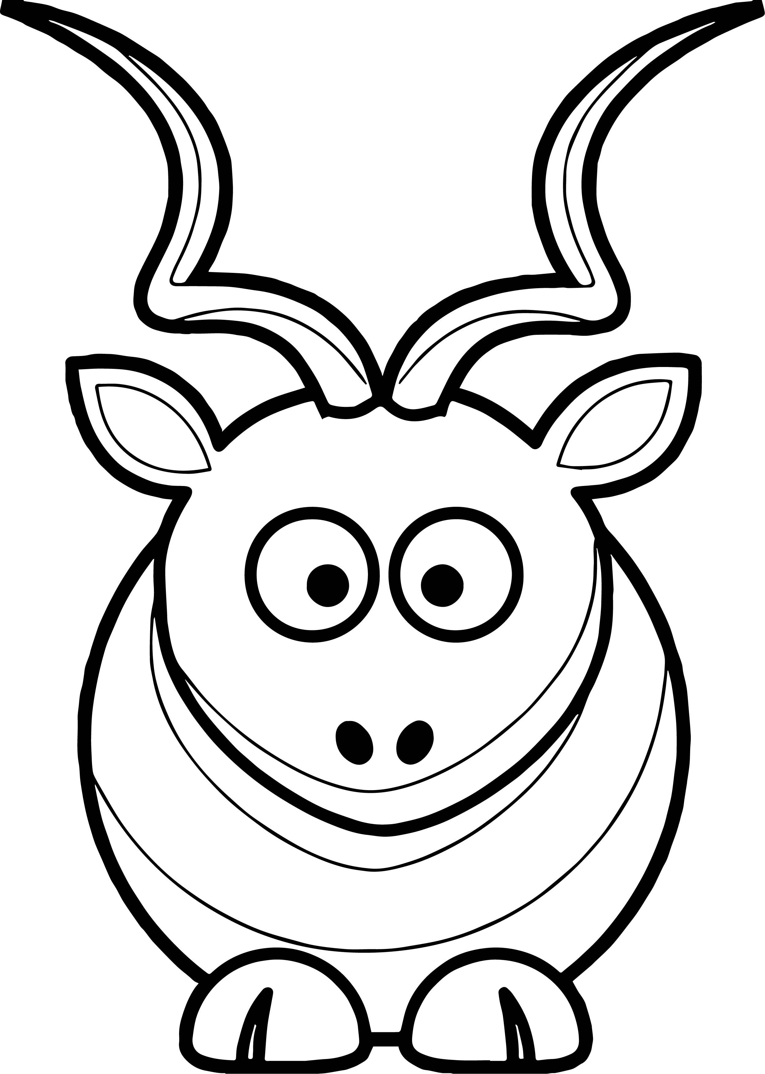 Martouf Cartoon Kudu Coloring Page Wecoloringpage